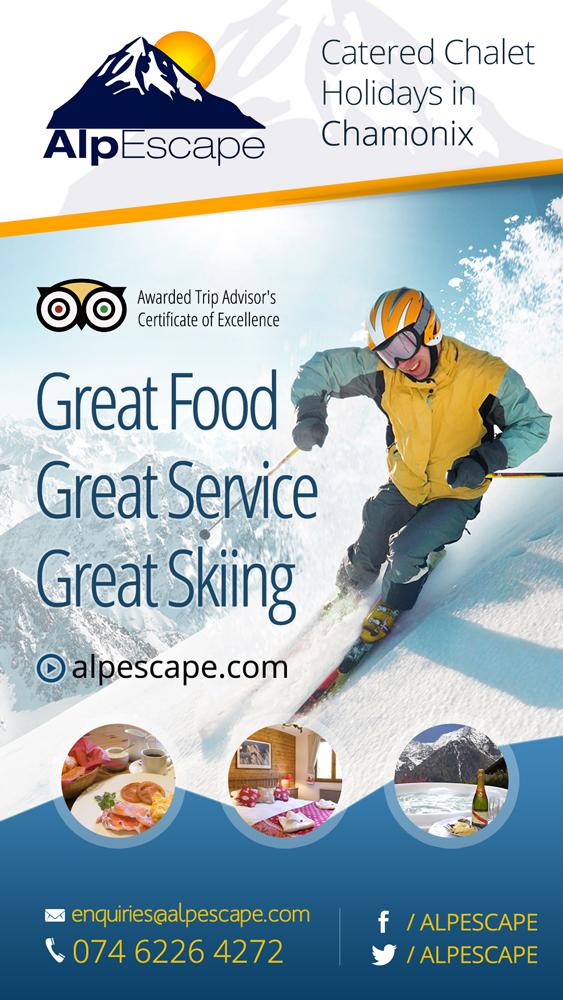 Create a great, single page ad for Ski Chalet Holidays
