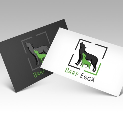 Logo for start up with natural dog food