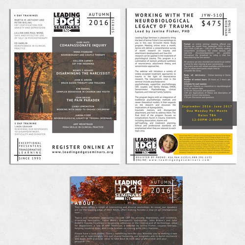 Text Centric Brochure Design With Research Style!