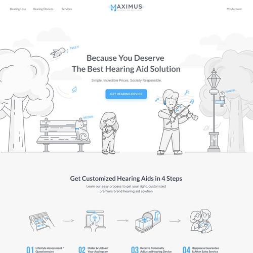 Powerful webdesign for revolutionary hearing device platform