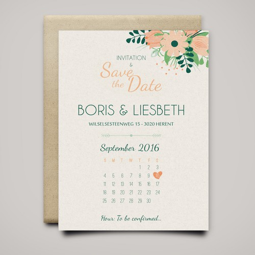 Wedding invitation & save the date