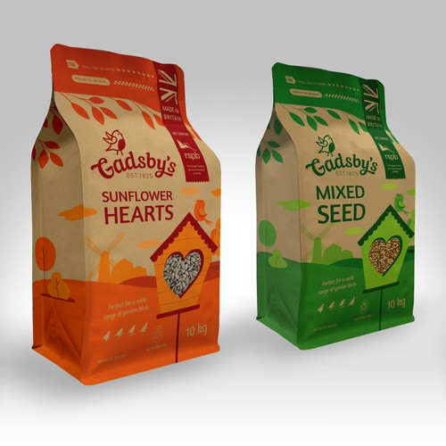 Bird feed packaging