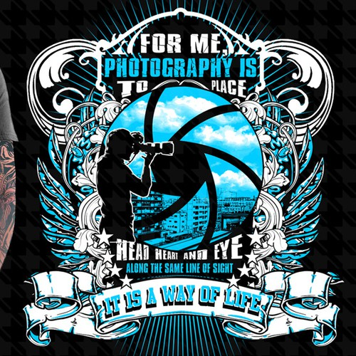 Professional Photography  Illustrational Shirt (With A Quote On It - 2 Colors)