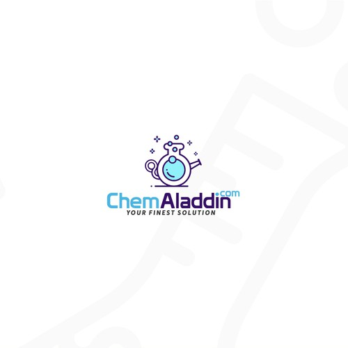 Logo concept for an e-commerce website that sells fine chemicals