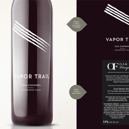 Vapor Trail wine bottle