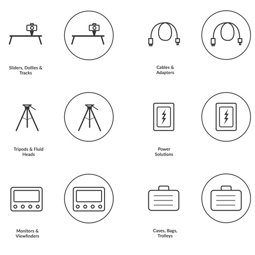 Icons Design for Online Shop Horizontal Menu