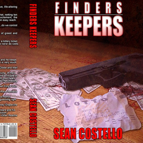 "Book Cover for Thriller ""Finders Keepers"""