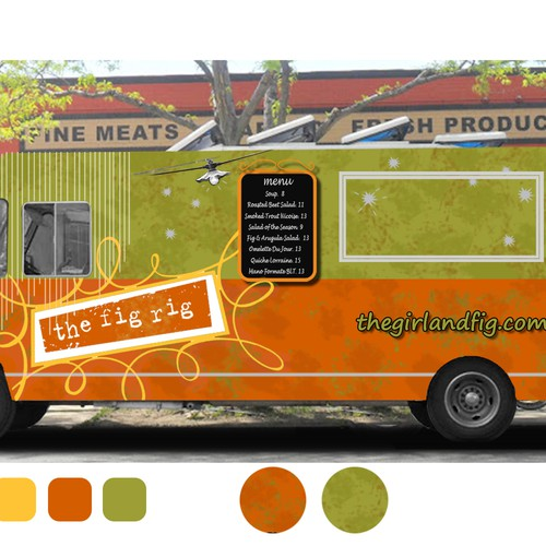 Girl & the fig's Wine Country Food Truck Wrap