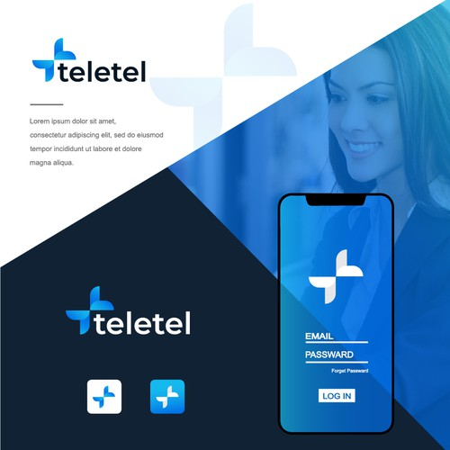 Design a logo for Teletel - A trustworthy telehealth company