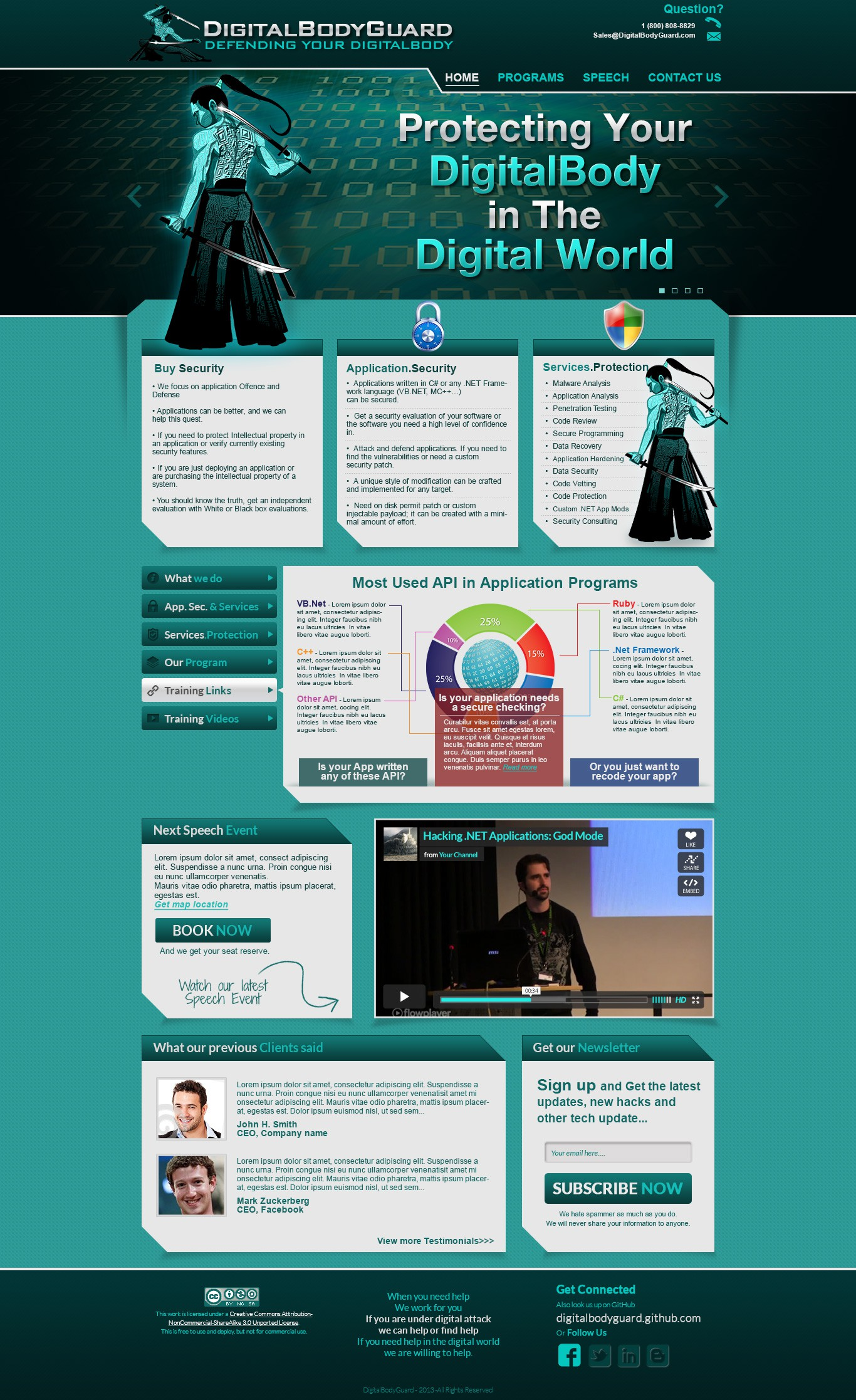 Digital Security / Hacker - website design