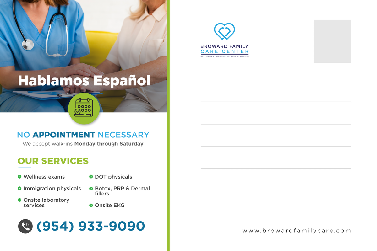 Family care practice seeking new patients and exposure