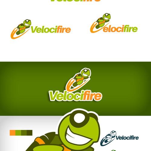 Create a speedy turtle mascot for Velocifire