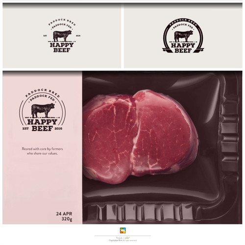 Logo designs for Happy Beef