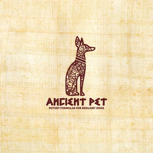 Ancient logo for dog food.