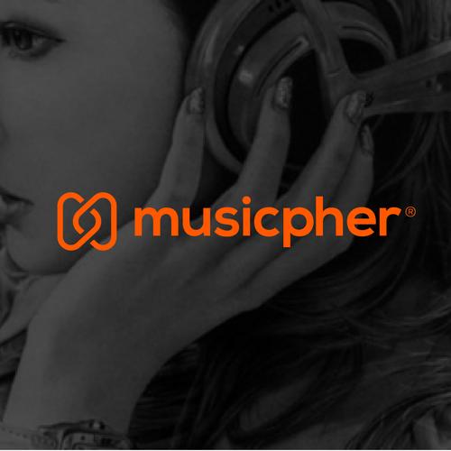 Music platform startup logo.