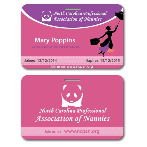 Membership Card for association of nannies