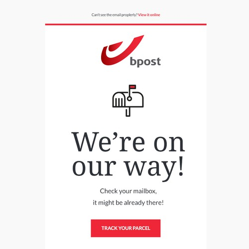 Email template for Bpost