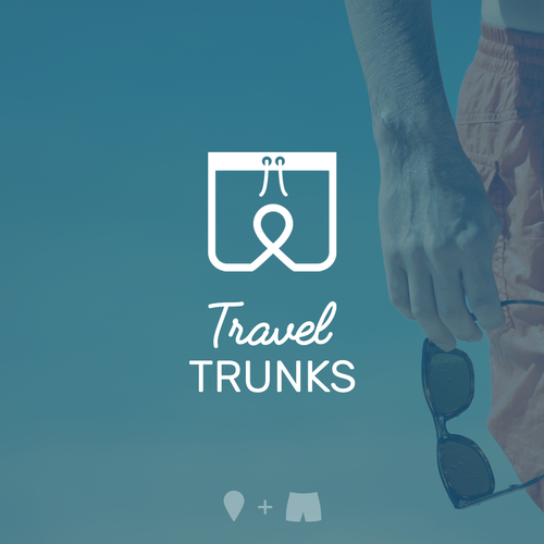 Clever logo for Travel Trunks