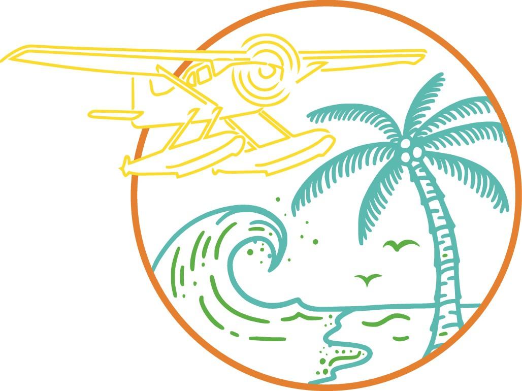 Modern & Tropical Aviation Themed Line Art/Sketch Design