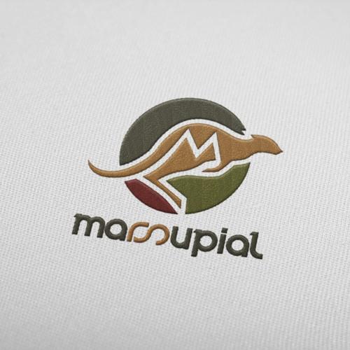 Create the illustrative identity of Marsupial Athletic Bags