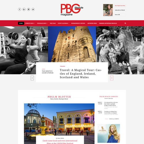 PBG Lifestyle Magazine - Website redesign