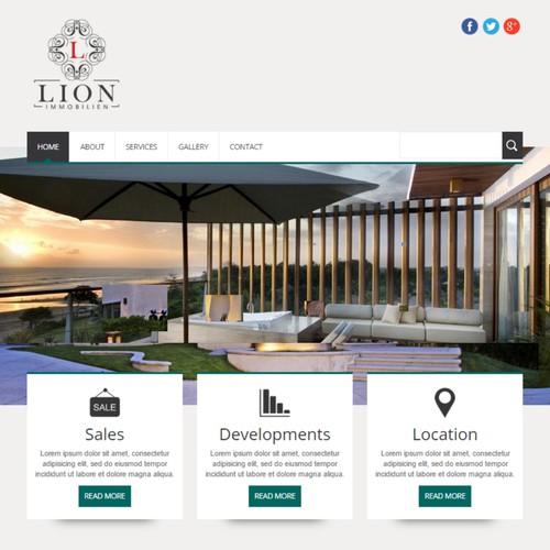 Erstellt eine innovative Immobilien-Seite