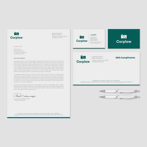 Corplaw Stationary Project