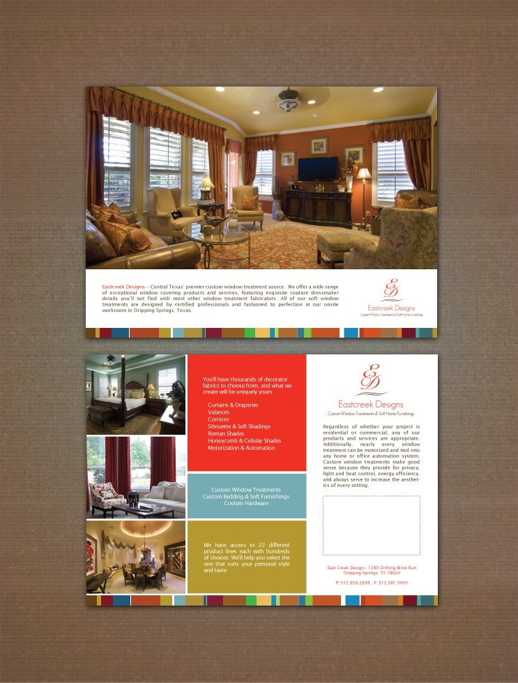 Custom Window Treatment Advertising Design