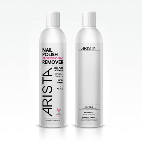 Nail Polish Remover Bottle Label Design