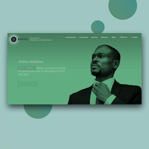 Delve Meditation Homepage Concept
