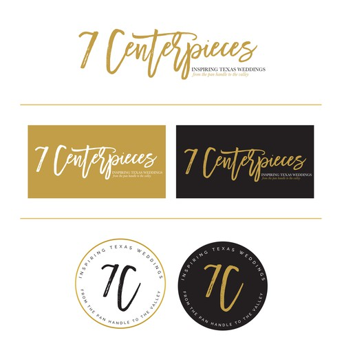 Design an updated logo for Texas' premier wedding blog, 7 Centerpieces