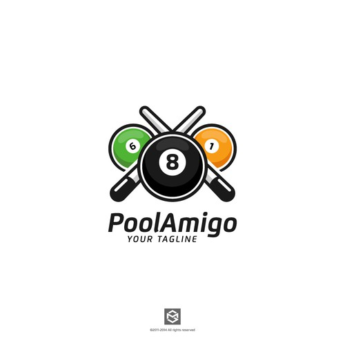 Create an awesome logo and design for our app and website for pool players