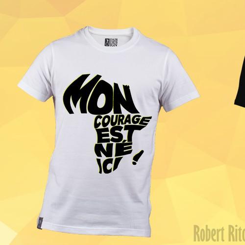T-shirt design of an African charity program