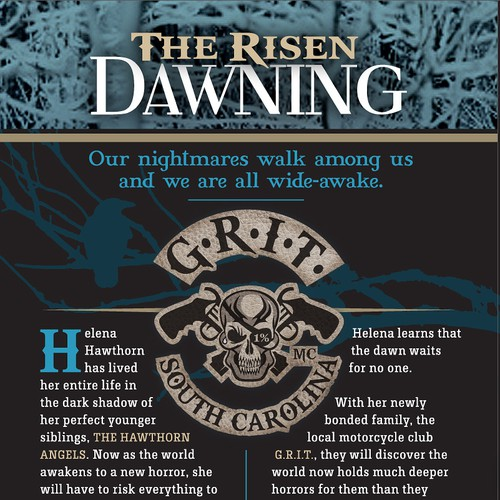 Marie F Crow Publishing needs a new fiction / horror book cover for The Risen: Dawning