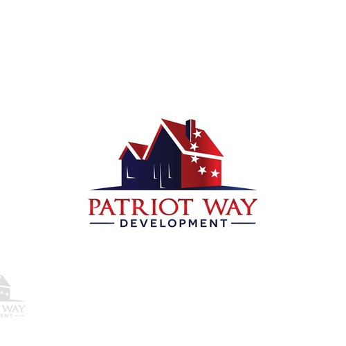 Patriotic housing development logo