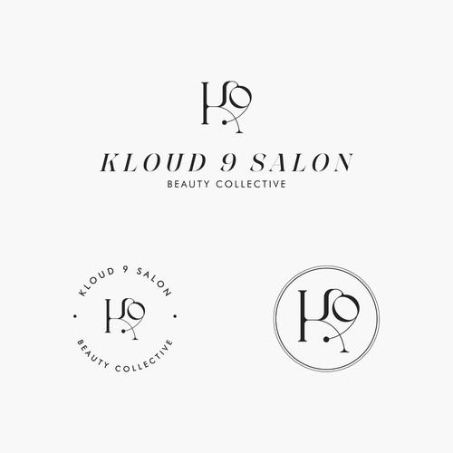 Concept Logo Design for Kloud 9 Salon