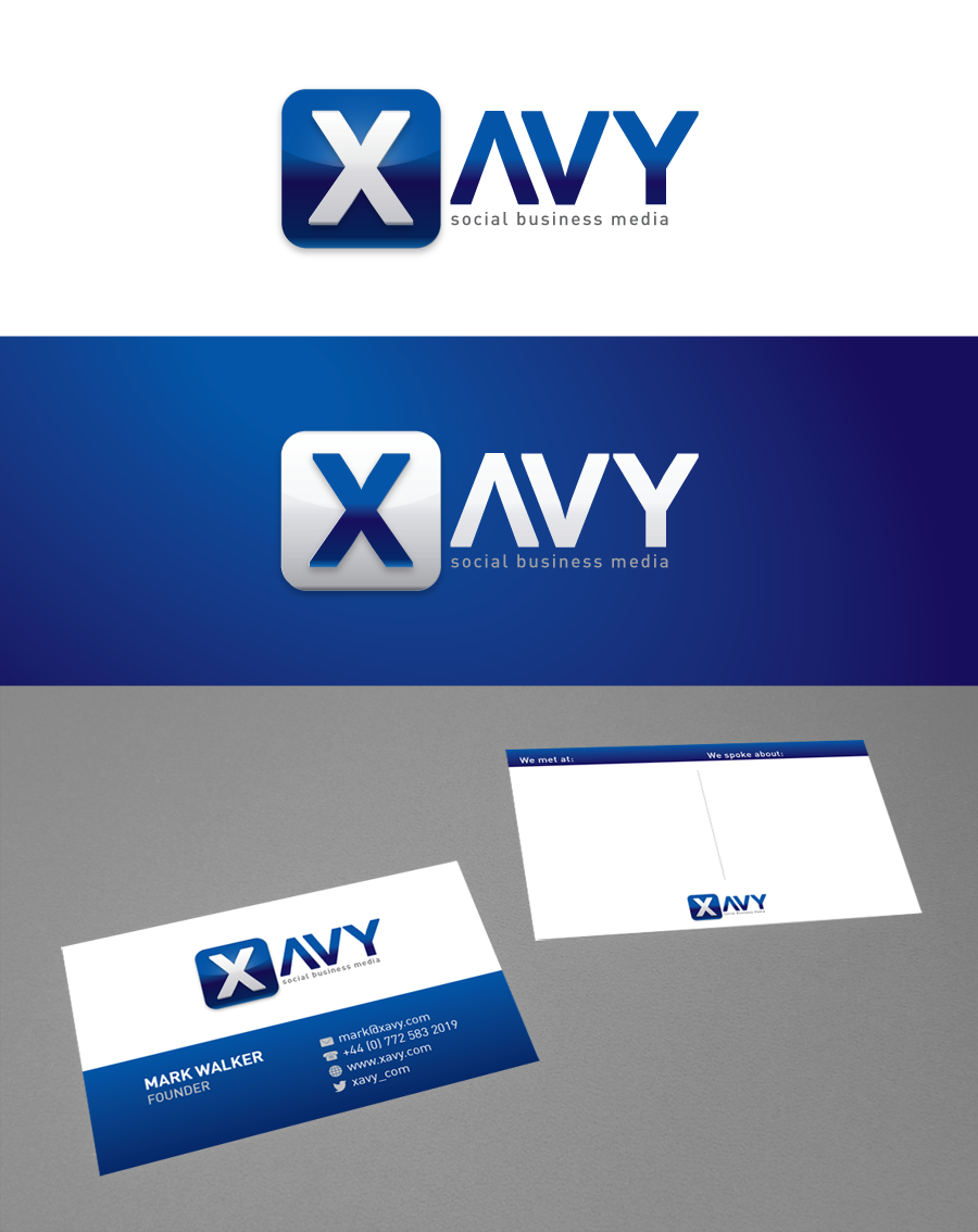 logo and business card for Xavy