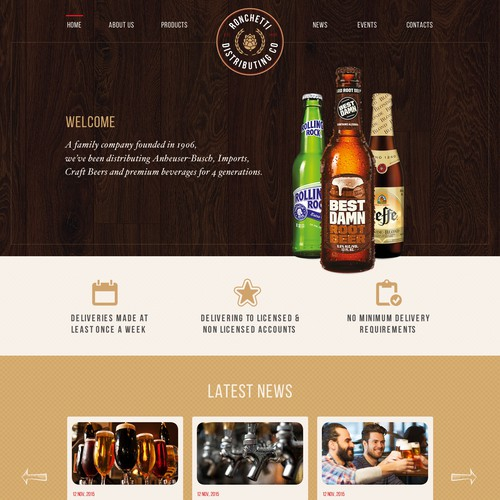 Web Design for Home page Food and Drink