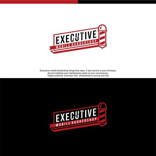 logo for Executive Mobile Barbershop
