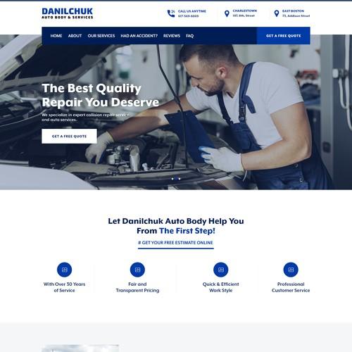 Web Design for a Autobody Shop in Boston