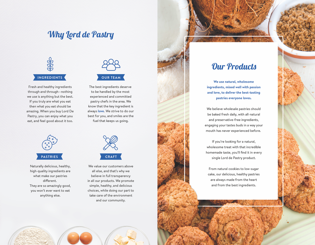Catalog Design for Lord de Pastry