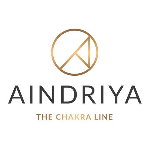 Aindriya - The chakra line Logo concept