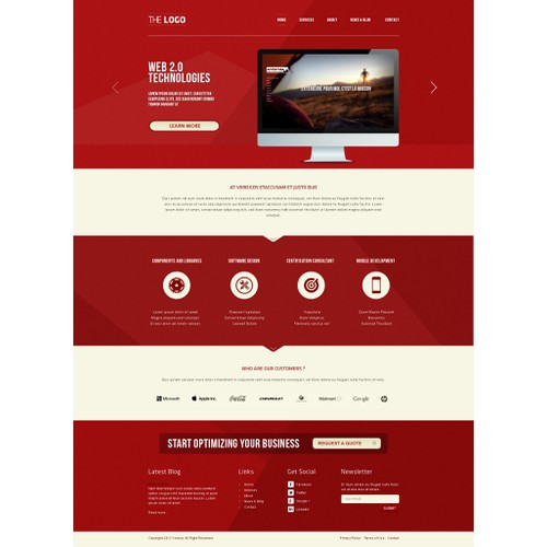 website design for JoomlArt JDesigner Contest #1: Where Minimalistic meets Simplicity