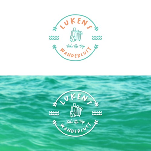 Logo concept for Lukens Wanderlust