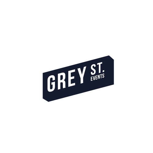 bold strong fun logo concept for Grey St. event