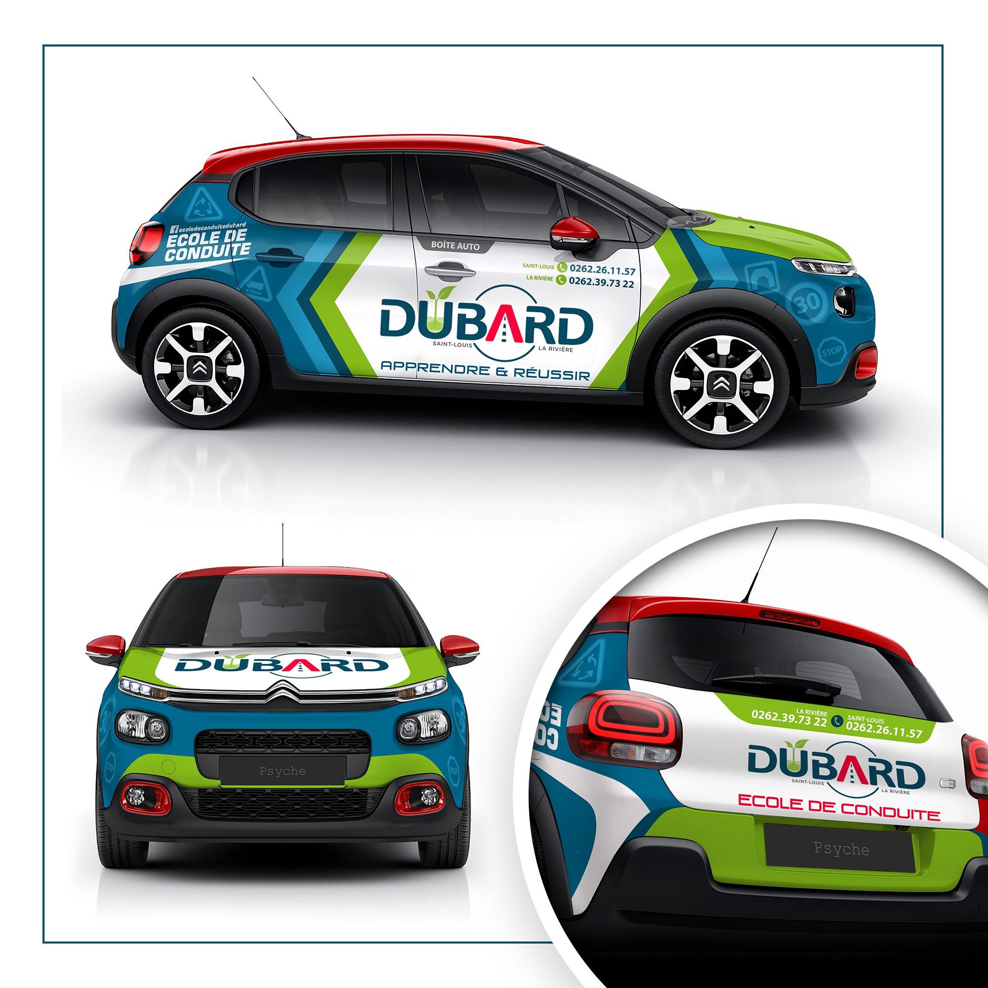 Habillage Citroën C3 pour auto-école