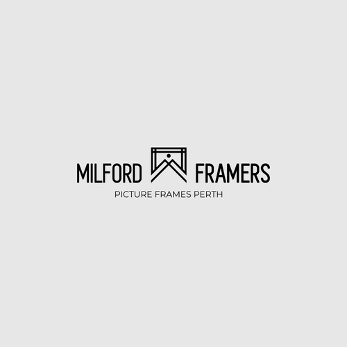 Simple Logo For Milford Framers