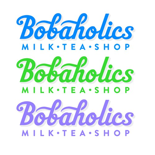Bobaholics Milk Tea Shop Logo