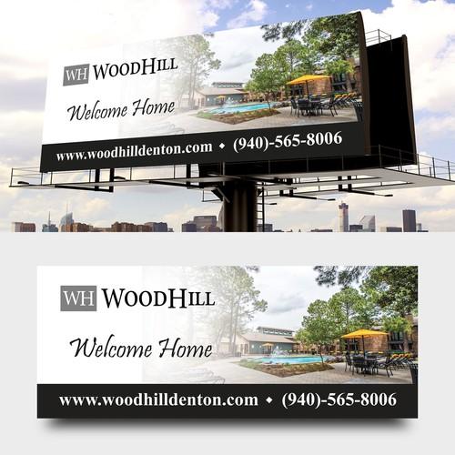 WoodHill Bilboard Design