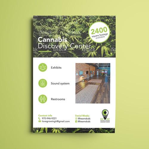 Flyer für Cannabis Discovery Center